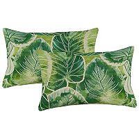 Metje 2-pack Indoor Outdoor Reversible Oblong Throw Pillow Set