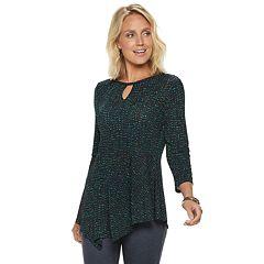 Women's Dana Buchman Keyhole Asymmetrical Top