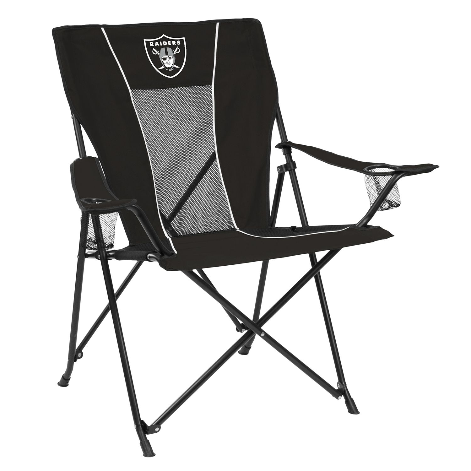 Adult Logo Brand Oakland Raiders Game Time Portable Folding Chair