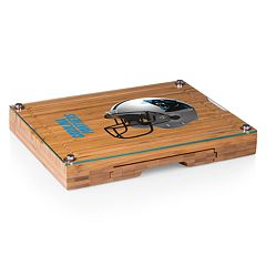 Picnic Time Carolina Panthers Concerto Bamboo Cutting Board and Cheese Tools Set