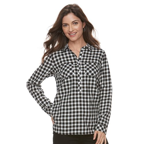 3ff2a984c8 Women s Croft   Barrow® Plaid Flannel Shirt