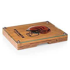 Picnic Time Cincinnati Bengals Concerto Bamboo Cutting Board and Cheese Tools Set