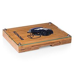 Picnic Time Denver Broncos Concerto Bamboo Cutting Board and Cheese Tools Set