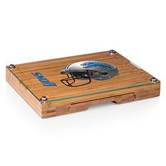 Picnic Time Detroit Lions Concerto Bamboo Cutting Board and Cheese Tools Set
