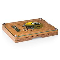 Picnic Time Green Bay Packers Concerto Bamboo Cutting Board and Cheese Tools Set