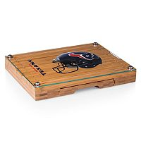 Picnic Time Houston Texans Concerto Bamboo Cutting Board and Cheese Tools Set