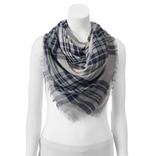 SONOMA Goods for Life™ Dip-Dyed Twill Plaid Blanket Square Scarf