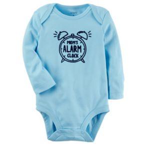 "Baby Boy Carter's ""Mom's Alarm Clock"" Graphic Bodysuit"