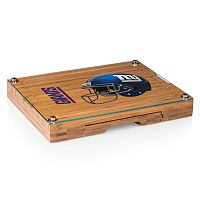 Picnic Time New York Giants Concerto Bamboo Cutting Board and Cheese Tools Set