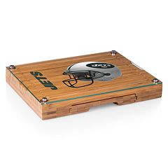 Picnic Time New York Jets Concerto Bamboo Cutting Board and Cheese Tools Set