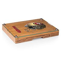 Picnic Time San Francisco 49ers Concerto Bamboo Cutting Board and Cheese Tools Set