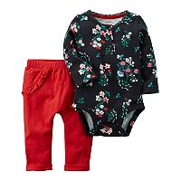 Baby Girl Carter's Floral Bodysuit & Pants Set
