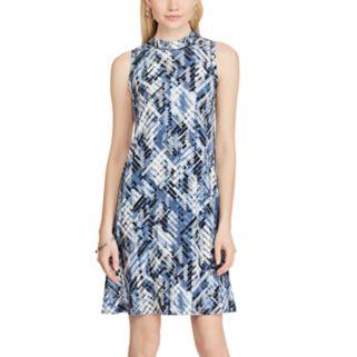 Women's Chaps Sleeveless Print Jersey Dress