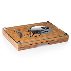 Picnic Time Tennessee Titans Concerto Bamboo Cutting Board and Cheese Tools Set
