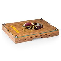 Picnic Time Washington Redskins Concerto Bamboo Cutting Board and Cheese Tools Set