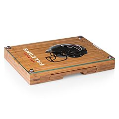 Picnic Time Atlanta Falcons Concerto Bamboo Cutting Board and Cheese Tools Set