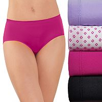 Fruit of the Loom 4-pack Microfiber No Ride Up Hipster Panty 4DSNRHP
