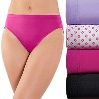 Fruit of the Loom 4-pack Microfiber No Ride Up Hi-Cut Panty 4DSNRHC