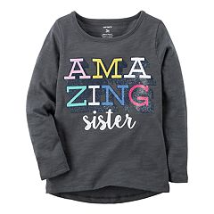 Baby Girl Carter's 'Amazing Sister' Glitter Graphic Tee