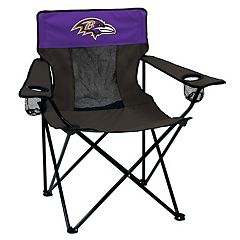 Adult Logo Brand Baltimore Ravens Elite Portable Folding Chair