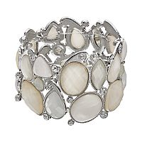 Geometric Stone Stretch Bracelet