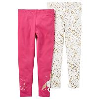 Baby Girl Carter's 2-pk. Star & Unicorn Leggings