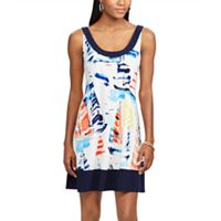 Women's Chaps Sailboat A-Line Dress