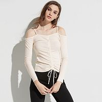 k/lab Ruched Off The Shoulder Tee