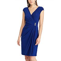 Women's Chaps Embellished Ruffle Sheath Dress