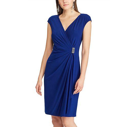 Women's Chaps Embellished Ruffle Sheath Dress