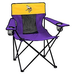 Adult Logo Brand Minnesota Vikings Elite Portable Folding Chair