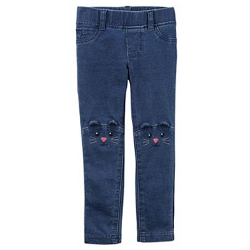 Baby Girl Carter's Embroidered Animal Jeggings