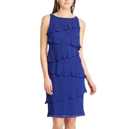 Women's Chaps Tiered Georgette Sheath Dress