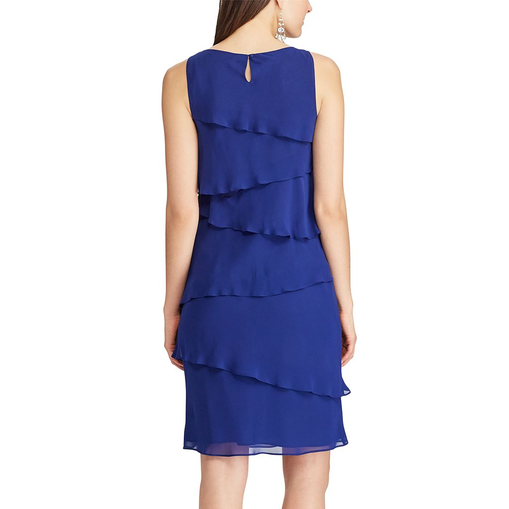 Women's Chaps Tiered Georgette Sheath Dress