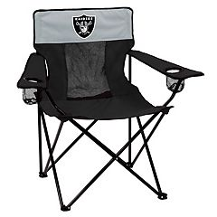 Adult Logo Brand Oakland Raiders Elite Portable Folding Chair