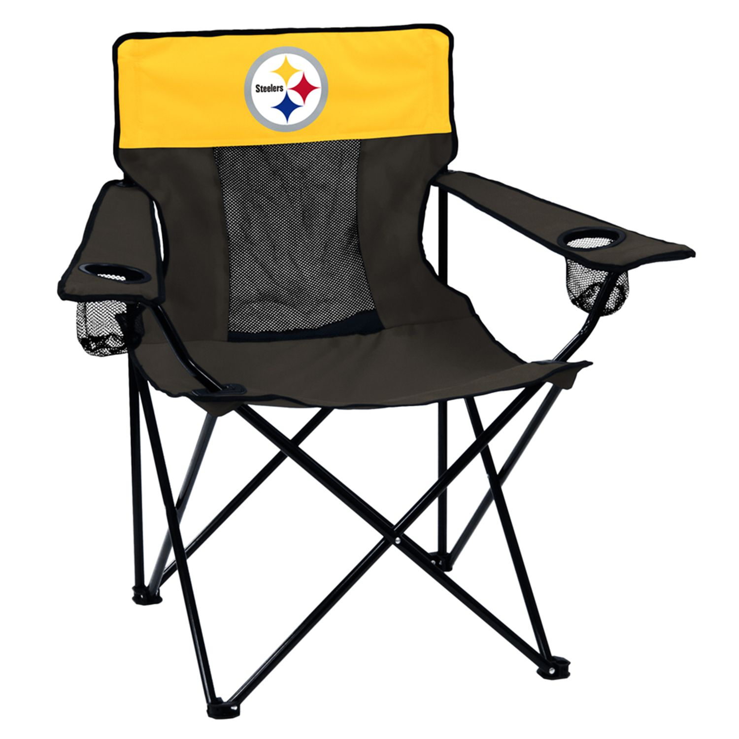 Adult Logo Brand Pittsburgh Steelers Elite Portable Folding Chair