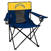 Adult Logo Brand Los Angeles Chargers Elite Portable Folding Chair