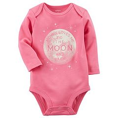 Baby Girl Carter's 'Mommy Loves Me To The Moon And Back' Bodysuit