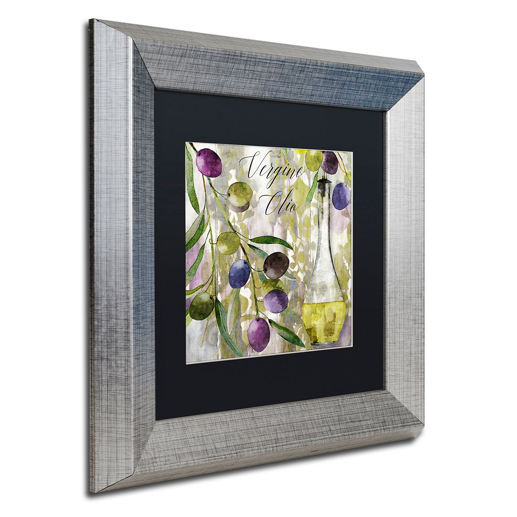 Trademark Fine Art Colors Of Tuscany II Silver Finish Framed Wall Art