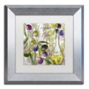 Trademark Fine Art Colors Of Tuscany II Silver Finish Framed Wall Art