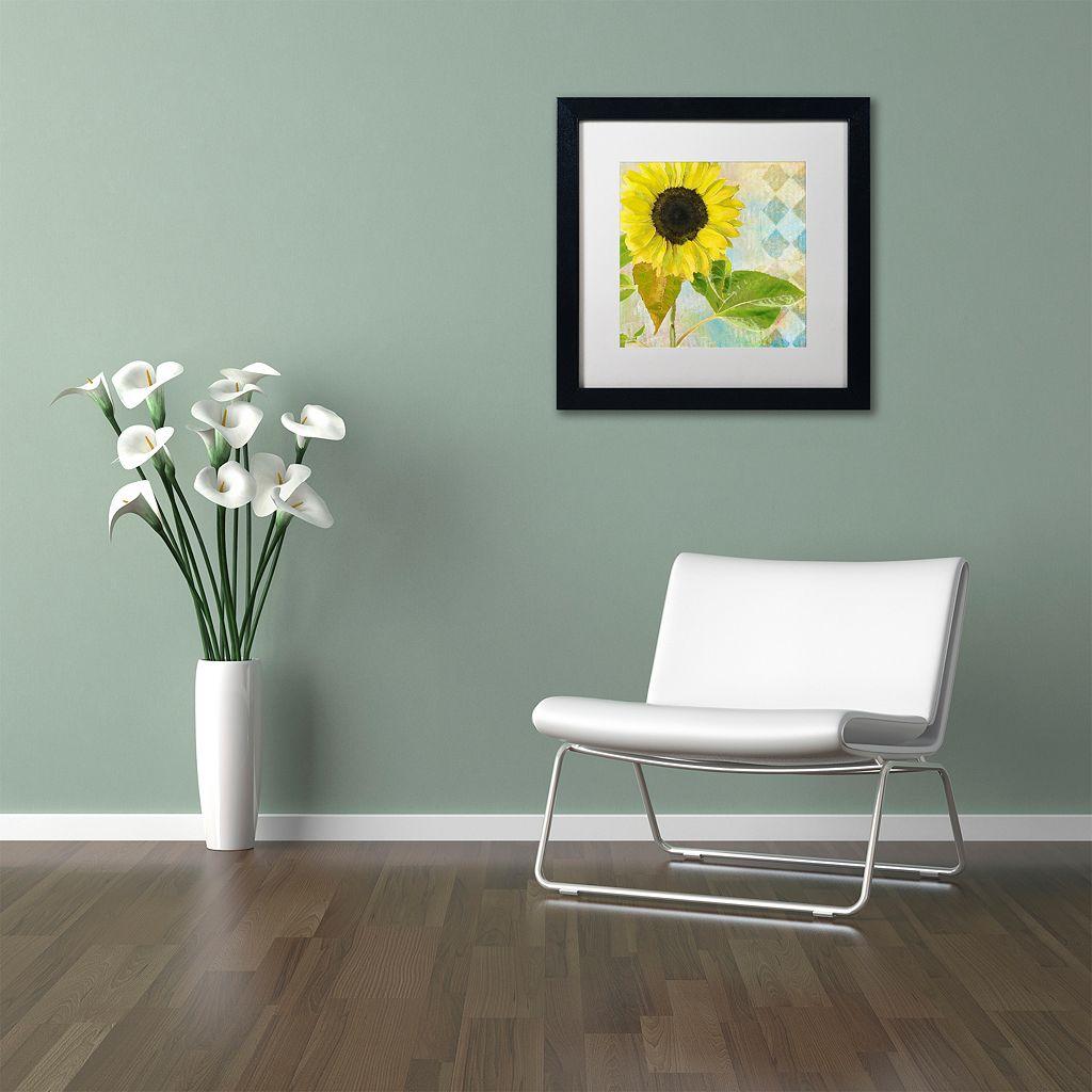 Trademark Fine Art Soleil III Black Framed Wall Art
