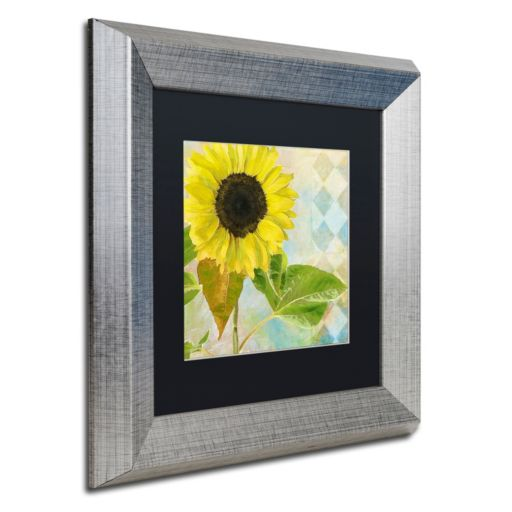 Trademark Fine Art Soleil III Silver Finish Framed Wall Art