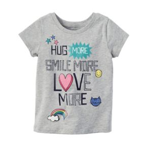 "Baby Girl Carter's ""Hug More, Smile More, Love More"" Graphic Short-Sleeve Tee"
