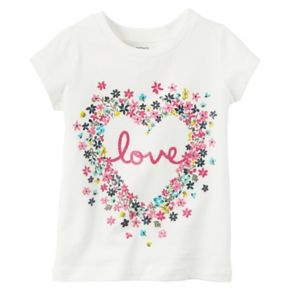 "Baby Girl Carter's Floral ""Love"" Graphic Short-Sleeve Tee"