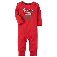 Baby Carter's Holiday 'Santa's Little Helper' Jumpsuit