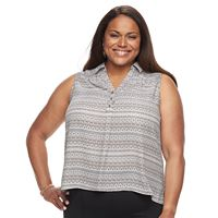 Plus Size Dana Buchman Smocked Top