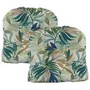 Metje 2-pack Indoor Outdoor Reversible Tufted Seat Pad Cushion Set