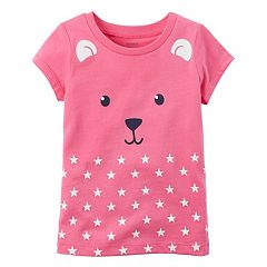 Baby Girl Carter's Character Face Graphic Short-Sleeve Tee