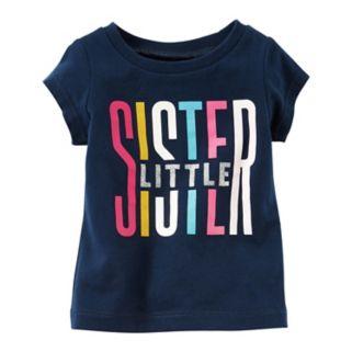 "Baby Girl Carter's ""Little Sister"" Graphic Short-Sleeve Tee"