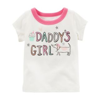 """Baby Girl Carter's """"Daddy's Girl"""" Graphic Tee"""